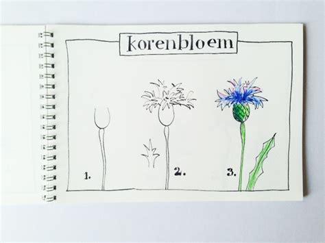 bloem tekenene bloem tekenen