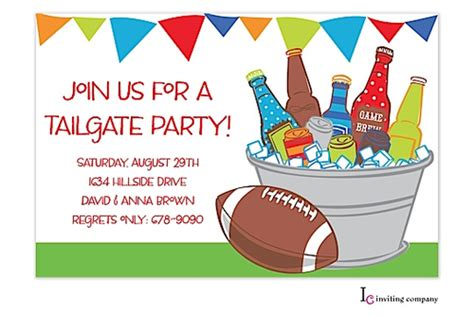 Tailgate Party Invitations Cimvitation Free Tailgate Flyer Template