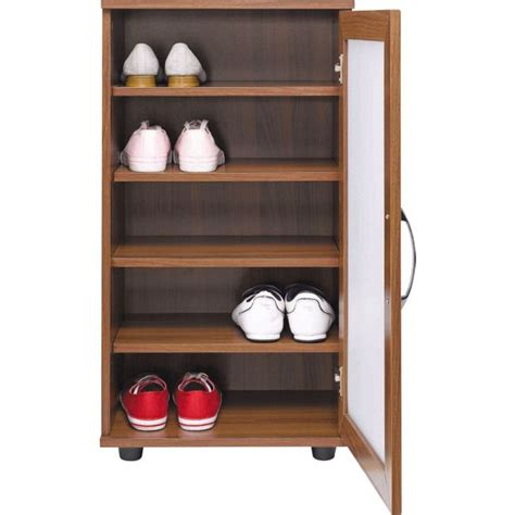 argos shoe cupboard storage buy home contemporary shoe storage cabinet walnut effect