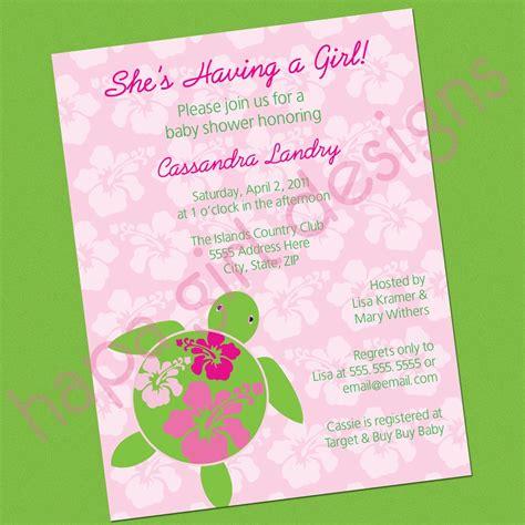 Luau Themed Baby Shower Invitations by Hapa Designs For Baby S Luau Or Hawaiian Themed Baby Shower Hawaiian Honu