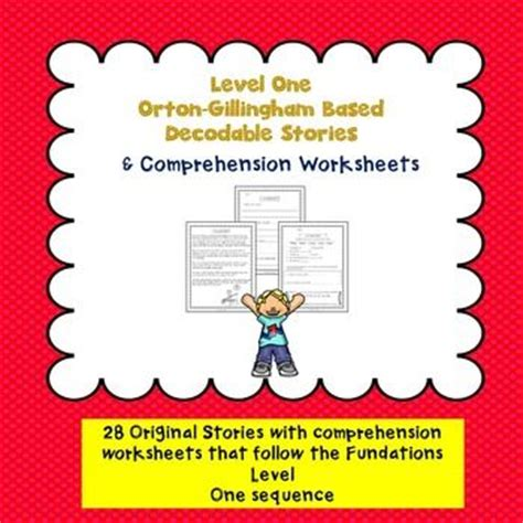 Orton Gillingham Based Decodable Stories Comprehension