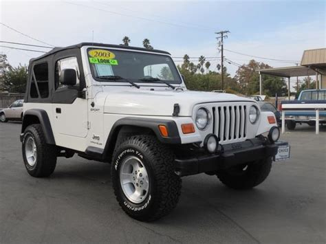 2003 Jeep Wrangler For Sale Carsforsale Search Results