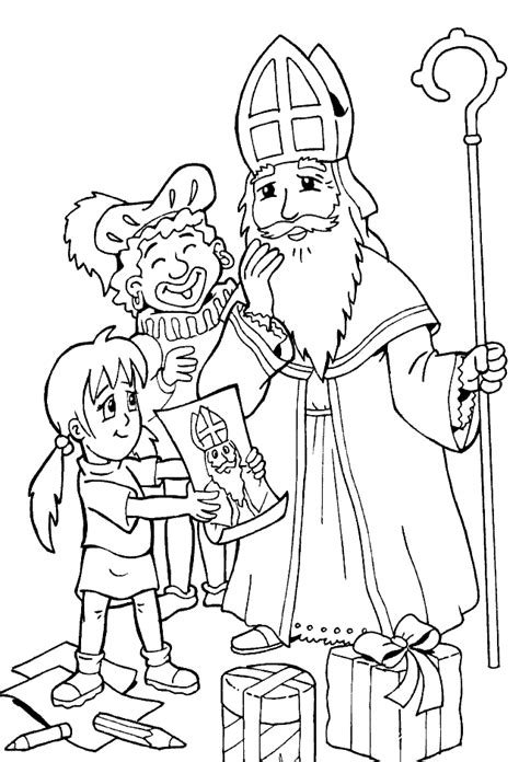 kids n fun com 38 coloring pages of st nicolas