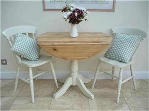 small drop leaf shabby chic kitchen table and 2 chairs