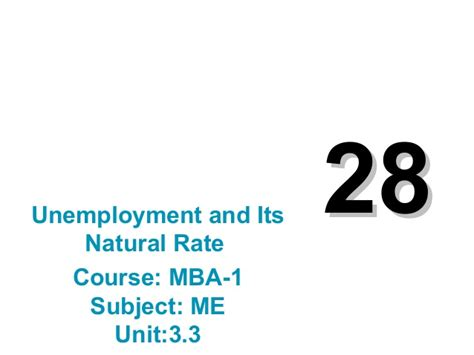 Mba Unemployment Rate by Mba 1 Me U 3 3 Unemployment