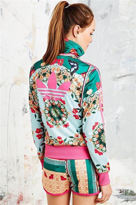 flower pattern adidas jacket adidas x the farm company borboflor jacket in floral print