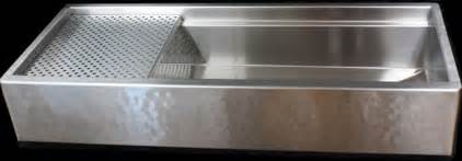 Hammered Stainless Steel Kitchen Sink Hammered Stainless Steel Apron Front Signature Series Sink By Rachiele Eclectic Kitchen