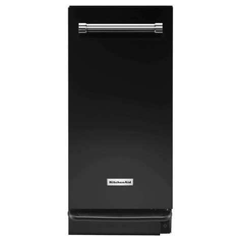 built in trash compactor kitchenaid 15 in built in trash compactor in black