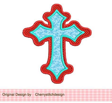 embroidery design cross cross applique 4x4 5x7 machine embroidery applique design
