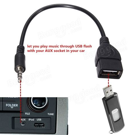 No Aux Port In Car by 3 5mm Audio Aux To Usb 2 0 Type A Otg Converter Adapter Cable Sale Banggood