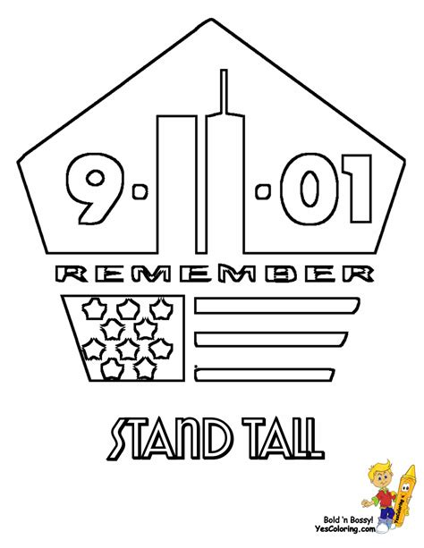 Coloring Page For 9 11 by Usa 911 Coloring Pages