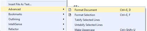 format html shortcut visual studio jeremy bytes visual studio shortcuts format document