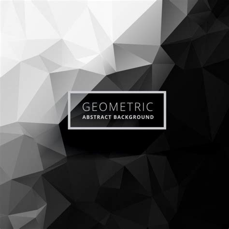 White Low Poly black and white low poly background free vector