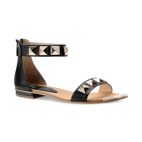 black sandals with ankle lyst isola adette flat ankle sandals in black