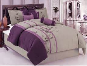 And gray comforter set cotton with purple queen bedding comforter set