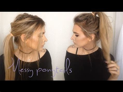 ponytailsmadeat the saloon messy ponytails 2 in 1 hair tutorial youtube