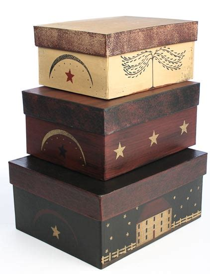 stackable boxes home decor set of 3 primitive house nesting boxes baskets buckets
