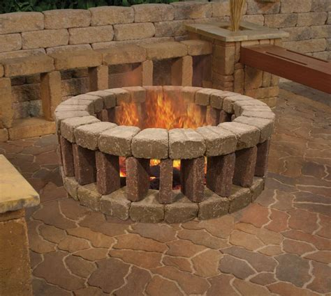 how many bricks for a pit 27 awesome diy firepit ideas for your yard bricks bench