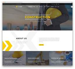 construction site templates construction company theme free