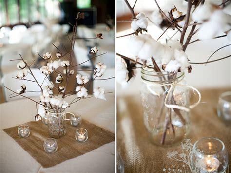 unique cotton wedding centerpieces with burlapwedwebtalks