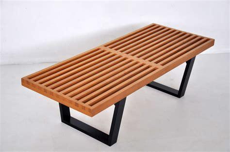 bench slats early george nelson slat bench for herman miller at 1stdibs