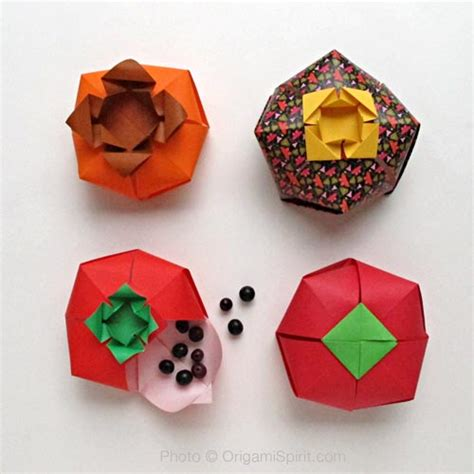 Shaped Origami Box - origami boxes learn how to make a tomato shaped origami