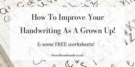 improve your handwriting worksheets for adults
