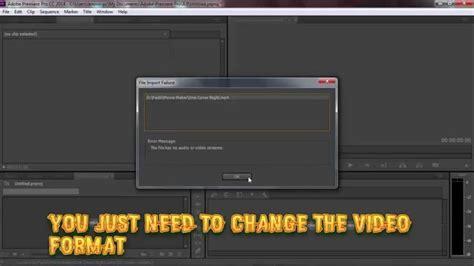 adobe premiere pro record audio how to fix adobe premiere pro error the file has no video