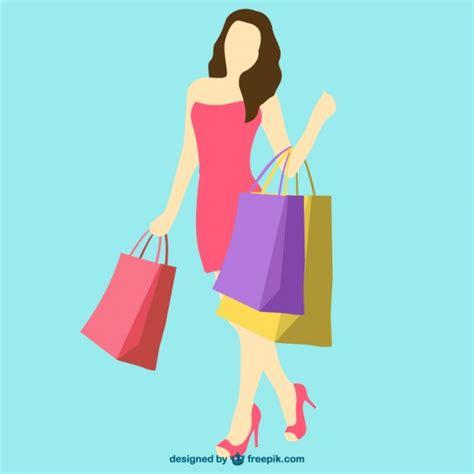 imagenes vectores compras vetor da menina de compras baixar vetores gr 225 tis