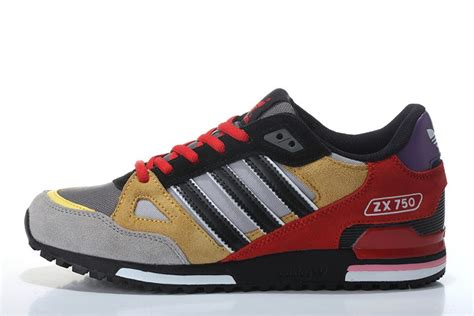 colorful adidas shoes adidas originals colorful zx750 cool black yellow s