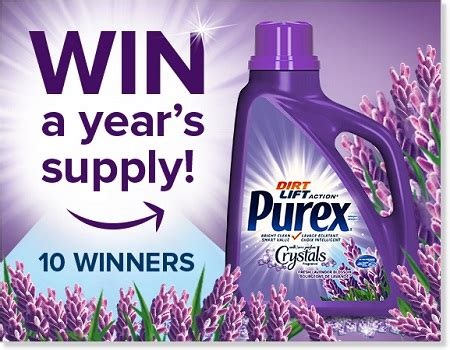 Purex Giveaway - win year s supply of purex with crystals fragrance lavender blossom