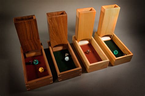dice towerrolling boxes wood games woodworking