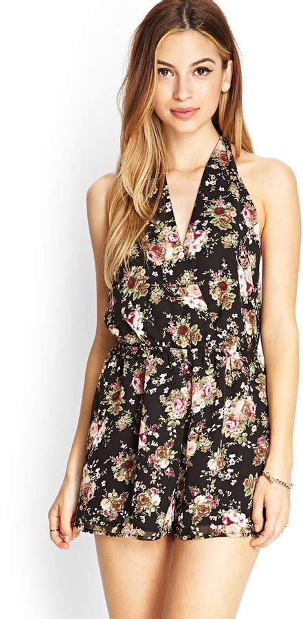 White Fiorito Miranda Surplice Dress forever 21 floral surplice romper where to buy how to wear
