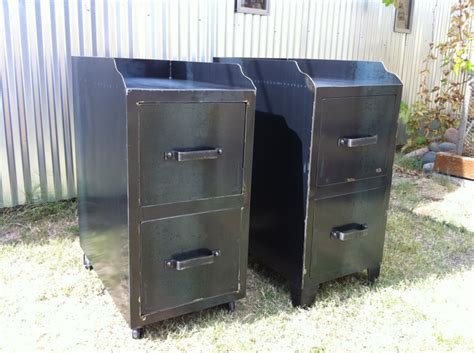 Metal Kitchen Cabinet by Filing Cabinet Vintage Industrial Furniture