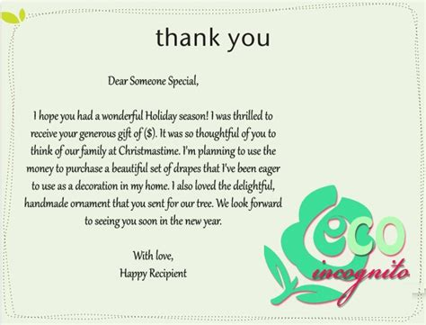 thank you letter to leaving sle thank you letter for gift best template