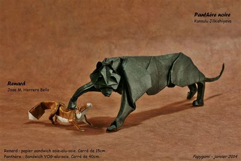 Panther Origami - 25 purr fect origami cats fur real i m not kitten