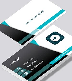 Free Uber Business Card Templates by Uber Business Cards Printed By Printelf Free Templates