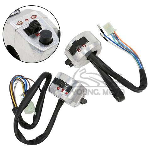 Asli Murah Motorcycle Handlebar Switch On 7 8 quot motorcycle switch on handlebar chrome turn signal speaker brake stop light for