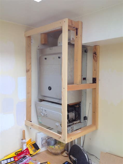 a frame kitchen ideas how to make an simple and attractive diy boiler cover