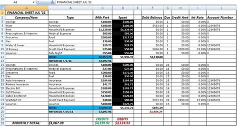 Accounting Spreadsheet Template Accounting Spread Sheet