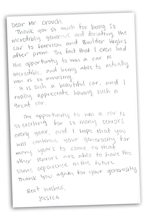 Thank You Letter Car Sales car sales thank you note pictures to pin on