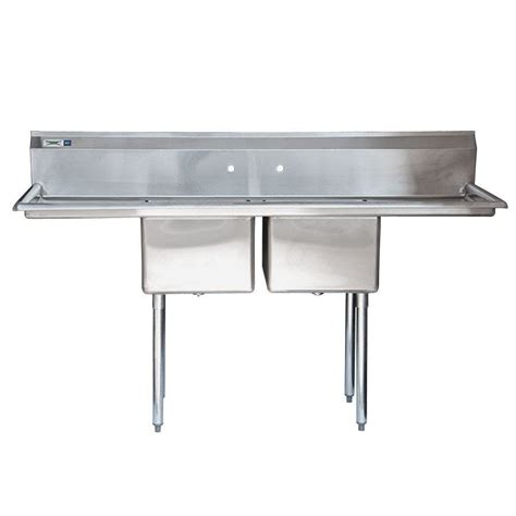 Stainless Steel Commercial Sinks by Regency 72 Quot 16 Stainless Steel Two Compartment