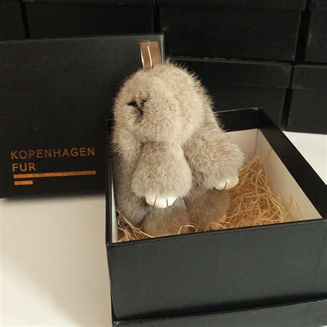 dead rabbit pendant mink rabbit fur key chain bag