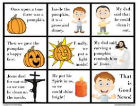 pumpkin gospel free printable for halloween radical