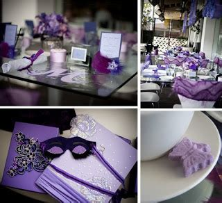 Purple Bridal Shower Decorations by Visions Events Designs Purple Inspired Bridal Shower