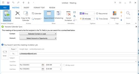 Sync Outlook Calendar With Syncing Yesware For Outlook With Salesforce Yesware