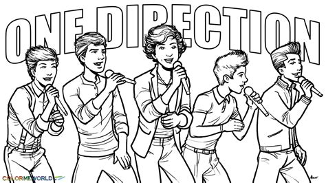one direction in concert coloring page wallpaper