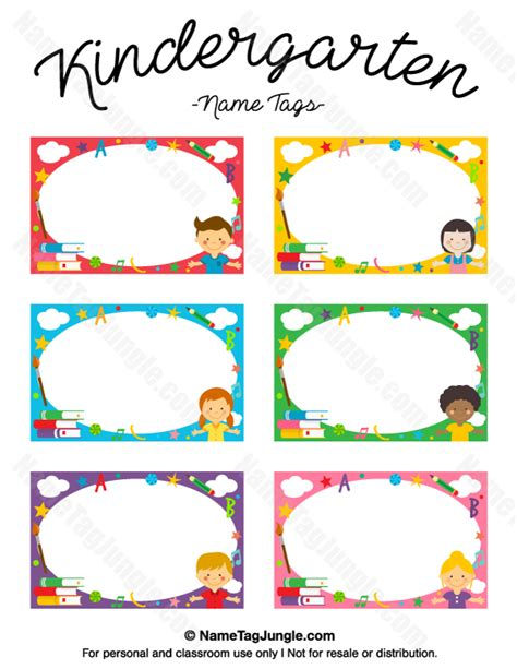 preschool name tag templates kindergarten name tags name tags at nametagjungle