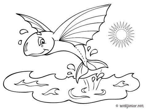 Poisson Volant Coloriage Animaux Gratuit Sur Webjunior Dessin Dessin De Poisson Davril L