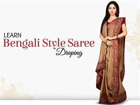 Drapes Accessories Diy Bengali Style Saree Draping Watch This 6 Steps